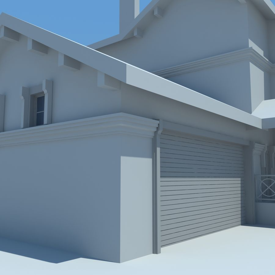 House cottage royalty-free 3d model - Preview no. 7
