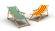 Sedia da spiaggia 3d model