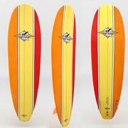 冲浪板橙黄色红色 3d model
