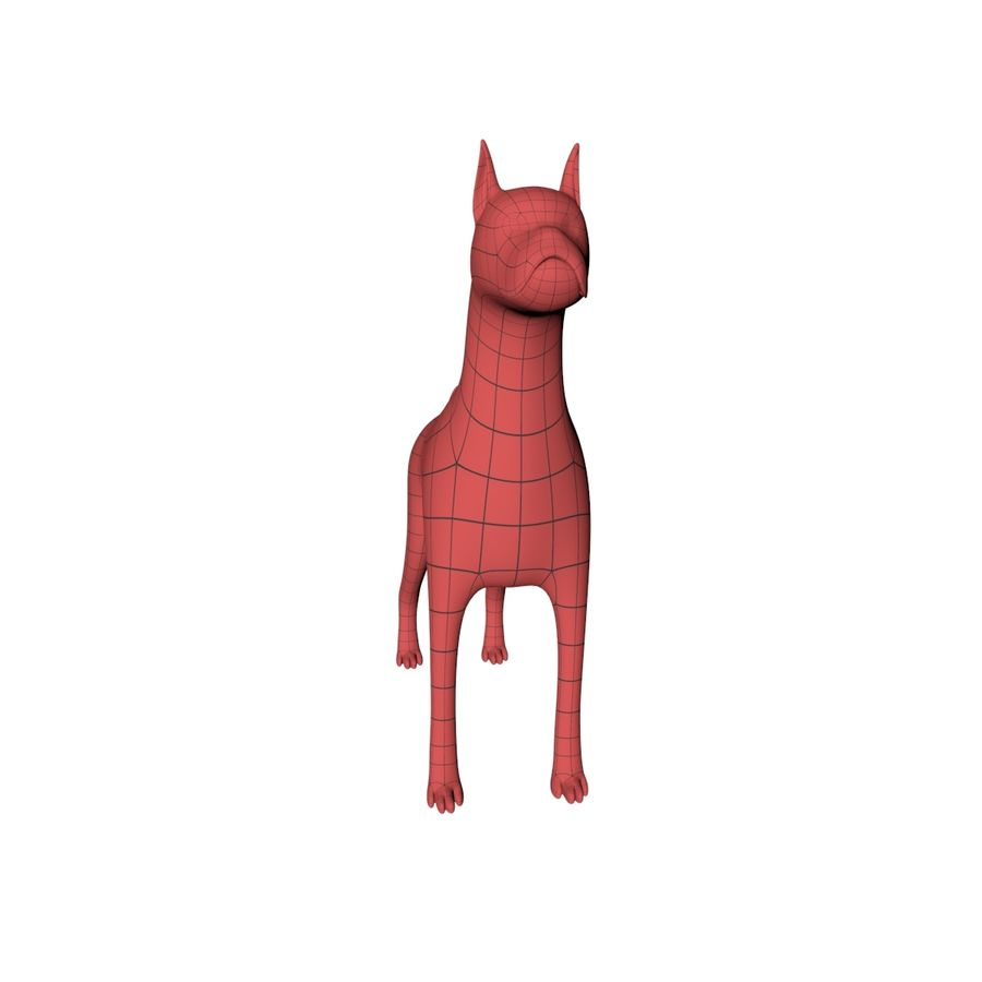 Boksör köpek taban örgü royalty-free 3d model - Preview no. 4