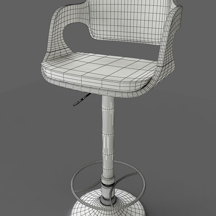 Barstol 3dsmax royalty-free 3d model - Preview no. 4