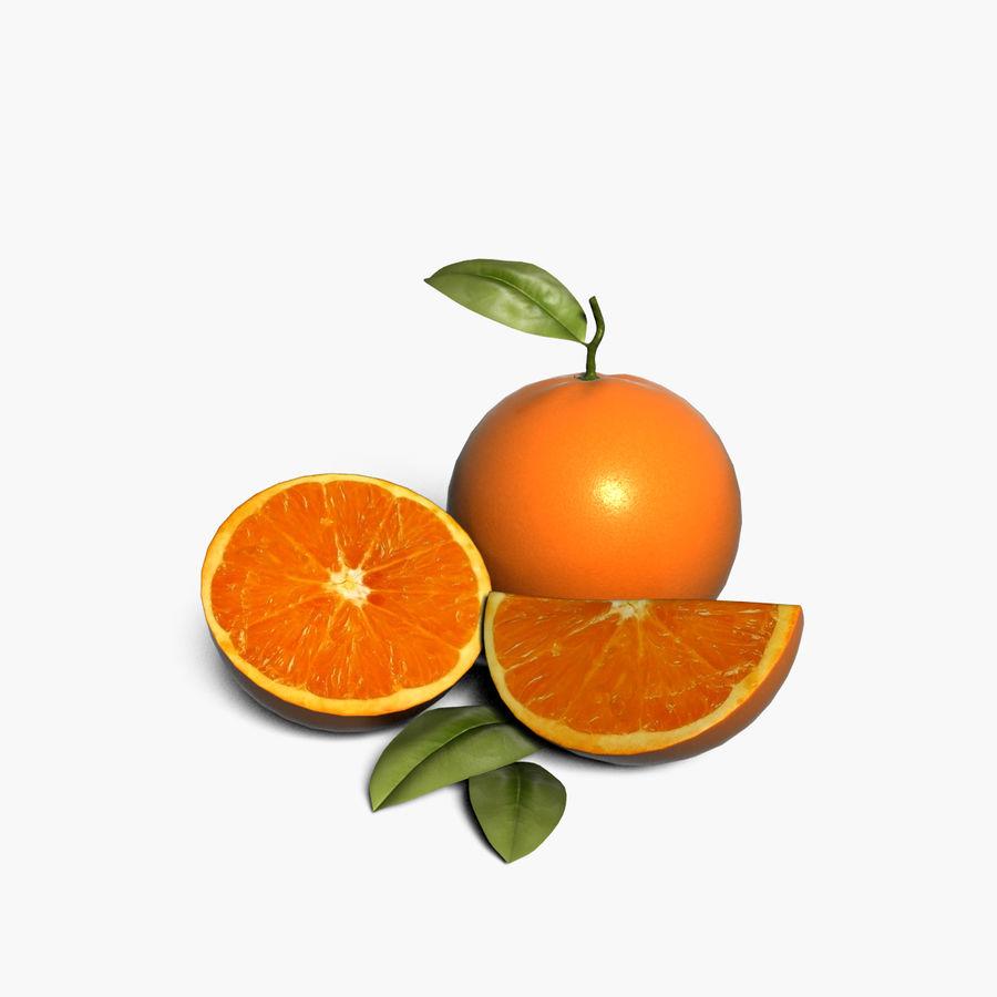 Orange frukt royalty-free 3d model - Preview no. 1