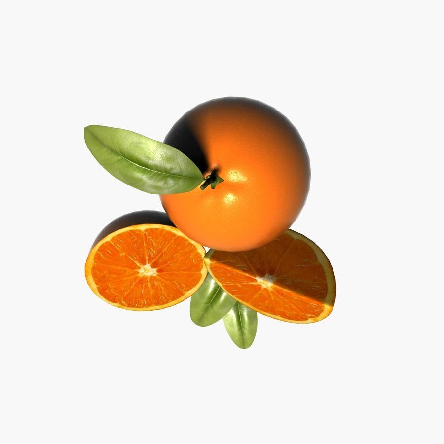 Orange frukt royalty-free 3d model - Preview no. 8