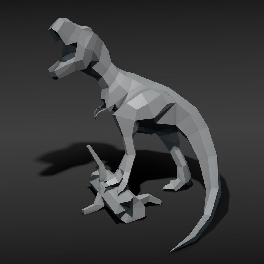 Tyrannosaurus Low Poly royalty-free 3d model - Preview no. 1