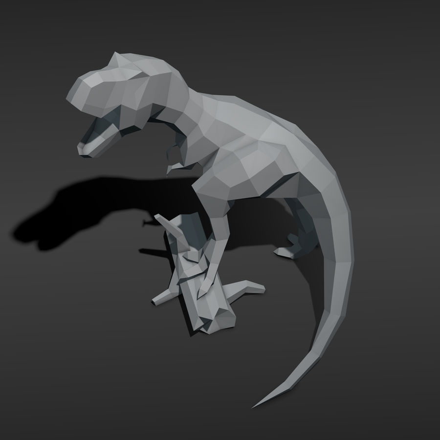 Tyrannosaurus Low Poly royalty-free 3d model - Preview no. 5