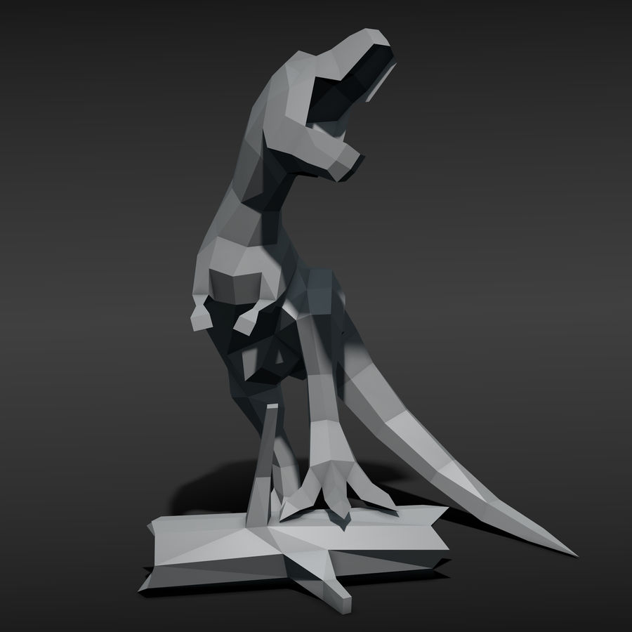 Tyrannosaurus Low Poly royalty-free 3d model - Preview no. 2