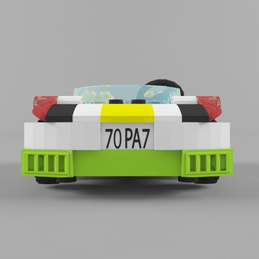 Sunset speeder royalty-free 3d model - Preview no. 5