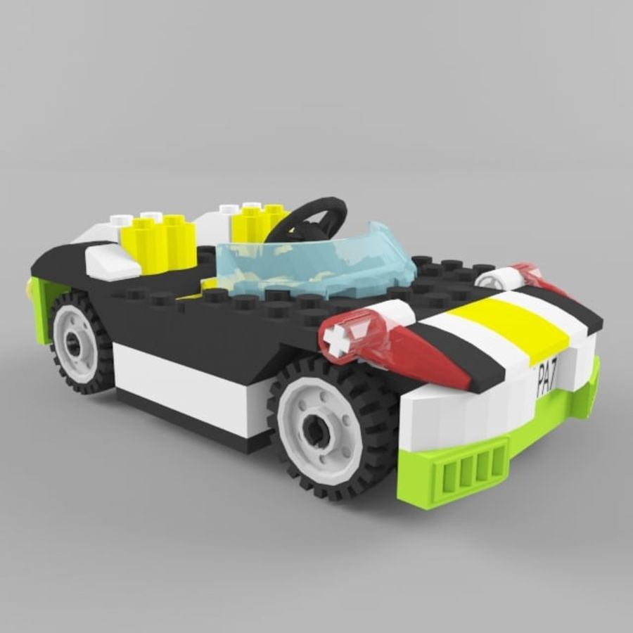Sunset speeder royalty-free 3d model - Preview no. 1