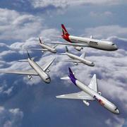 보잉 767 비행기 3d model