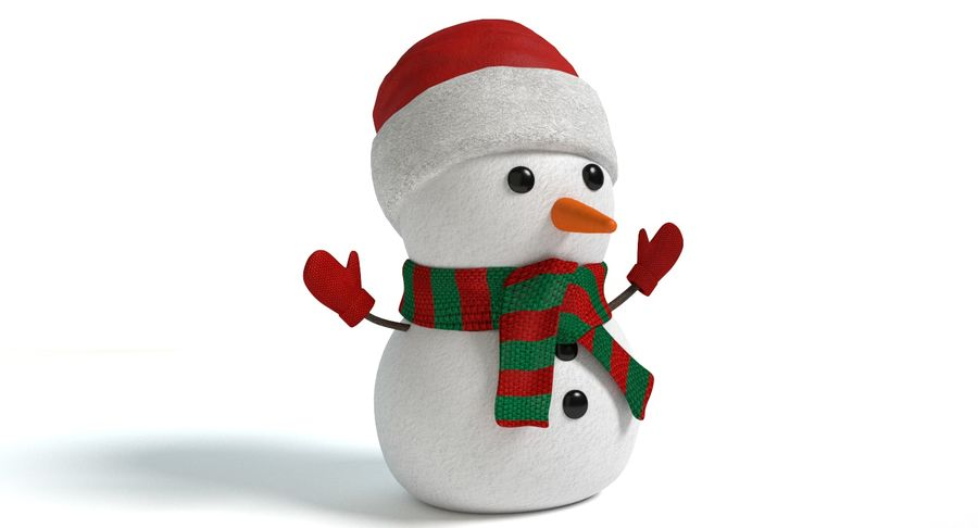Holiday Snowman royalty-free 3d model - Preview no. 4