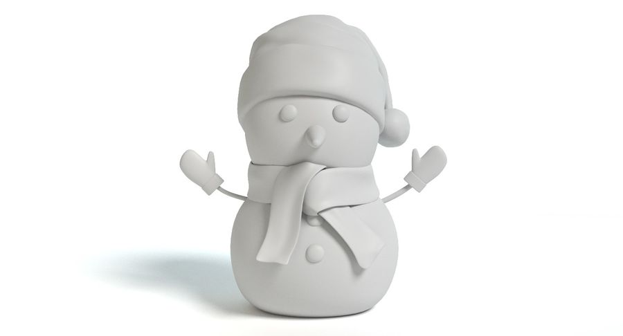 Holiday Snowman royalty-free 3d model - Preview no. 7