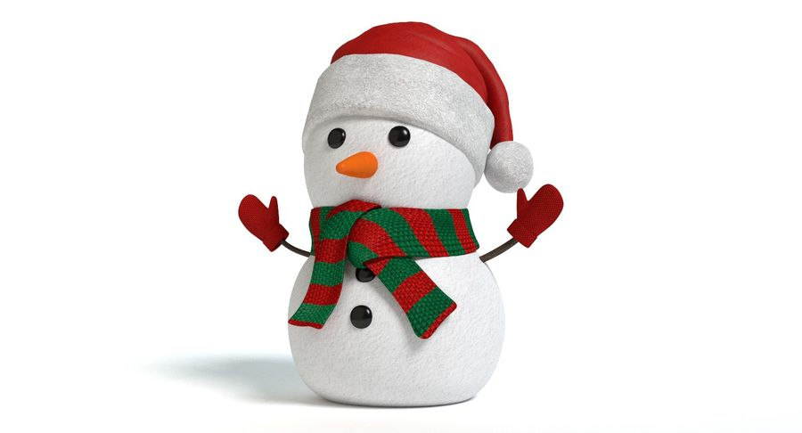 Holiday Snowman royalty-free 3d model - Preview no. 6