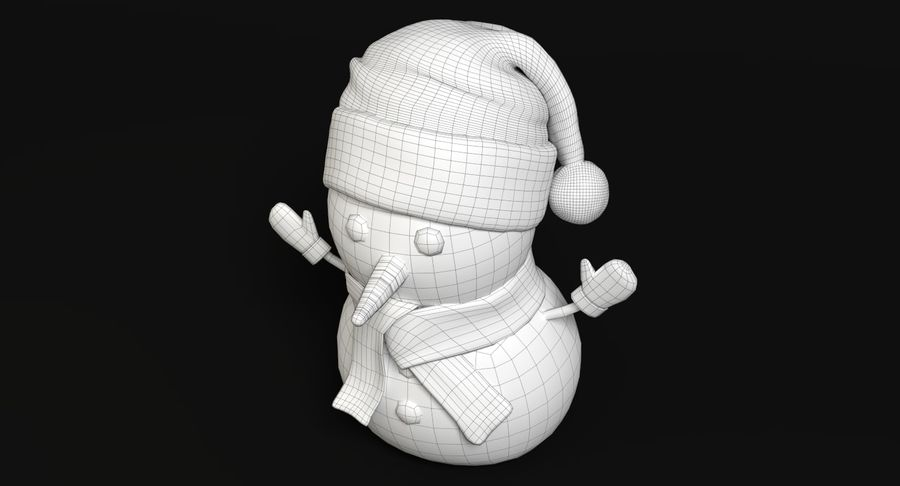 Holiday Snowman royalty-free 3d model - Preview no. 9