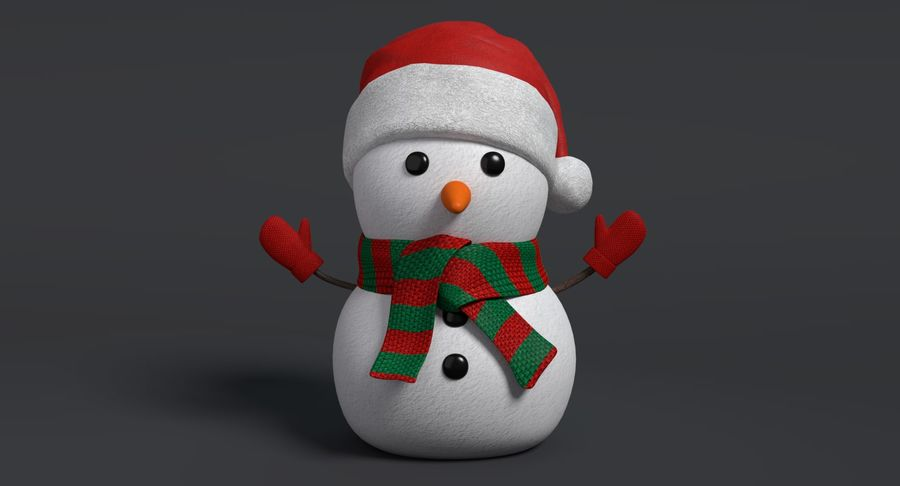 Holiday Snowman royalty-free 3d model - Preview no. 3