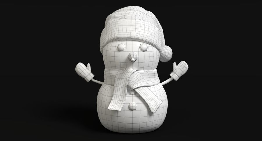 Holiday Snowman royalty-free 3d model - Preview no. 8