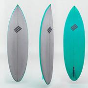 冲浪板绿色 3d model