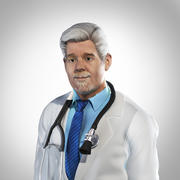 Alter Arzt - behoben 3d model