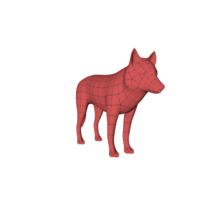Wolf base mesh royalty-free 3d model - Preview no. 3