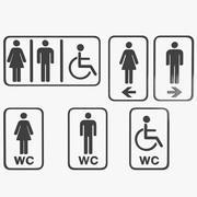 Toilet Symbol 3d model