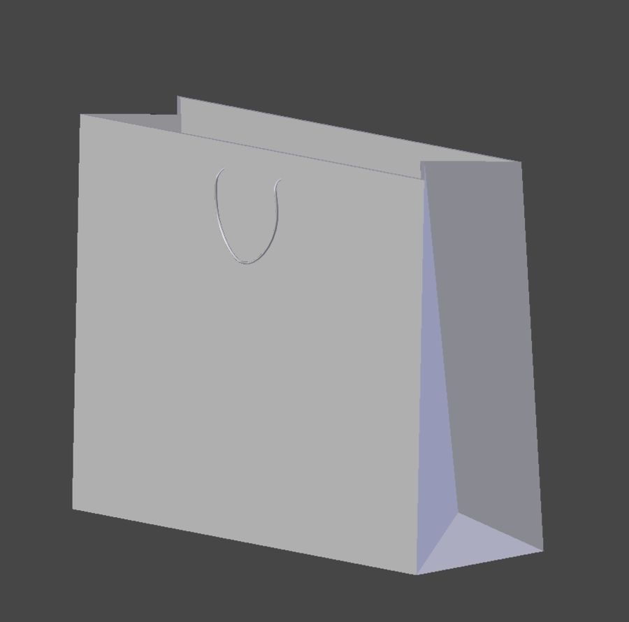 Calvin Klein Shopping Bag royalty-free 3d model - Preview no. 4