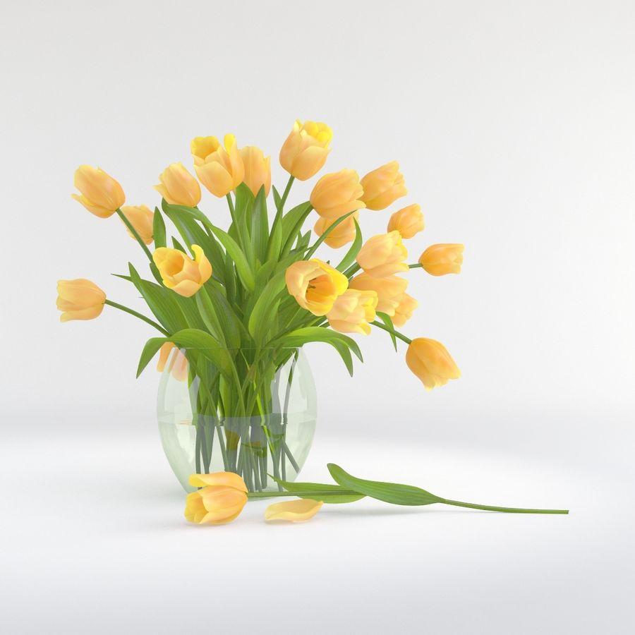 Vase à fleur de tulipe royalty-free 3d model - Preview no. 1