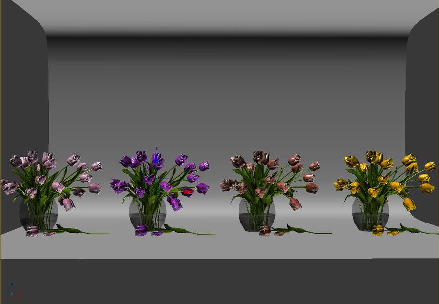 Vase à fleur de tulipe royalty-free 3d model - Preview no. 9