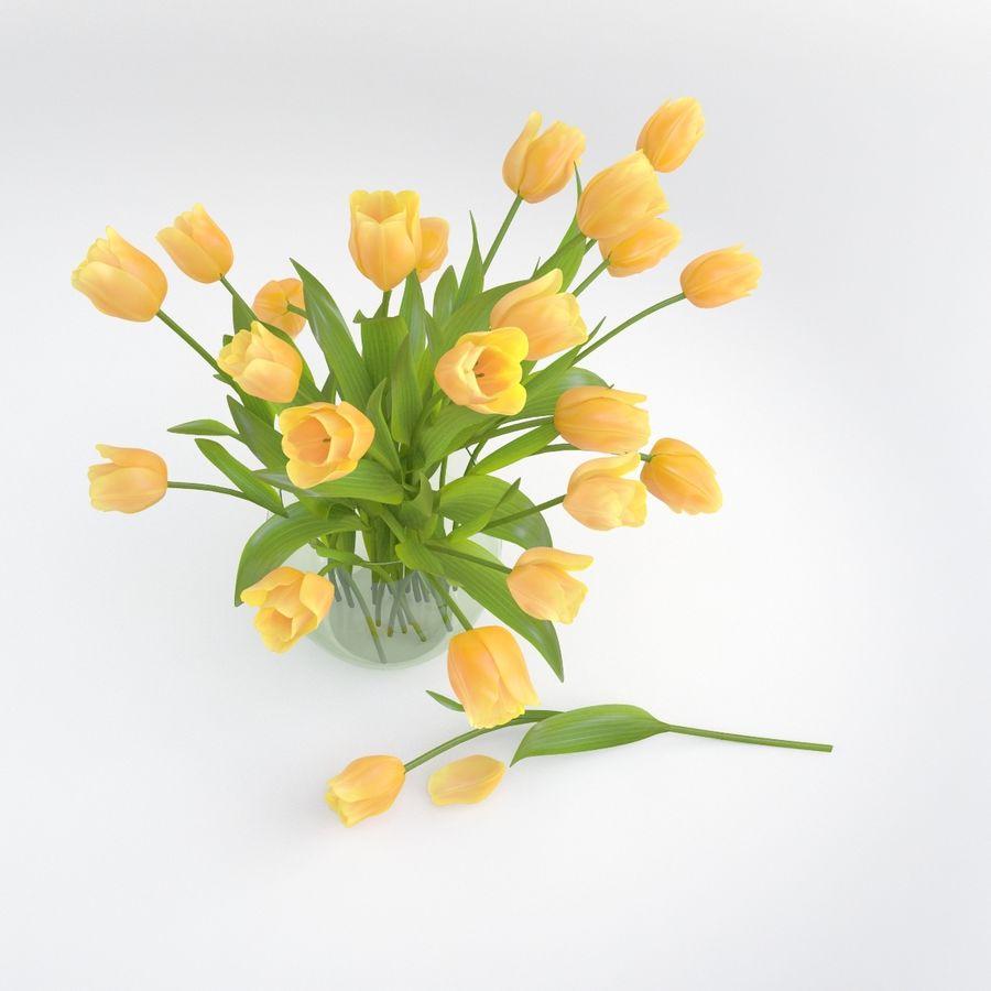Vase à fleur de tulipe royalty-free 3d model - Preview no. 5