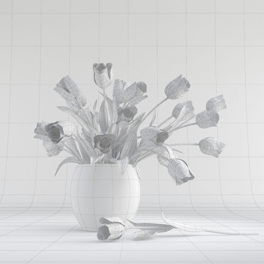 Vase à fleur de tulipe royalty-free 3d model - Preview no. 8