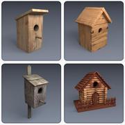 Verzameling van vogelhuisjes 3d model
