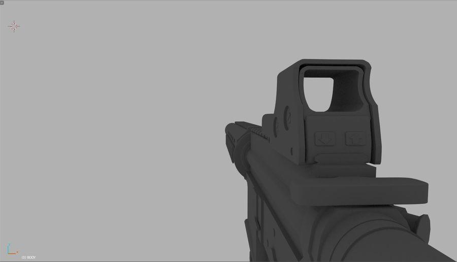 アサルトライフル royalty-free 3d model - Preview no. 5