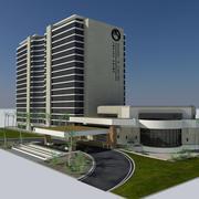 Modernes Resort und Casino City-Gebäude - Twelve Palms Hotel Paradise 3d model