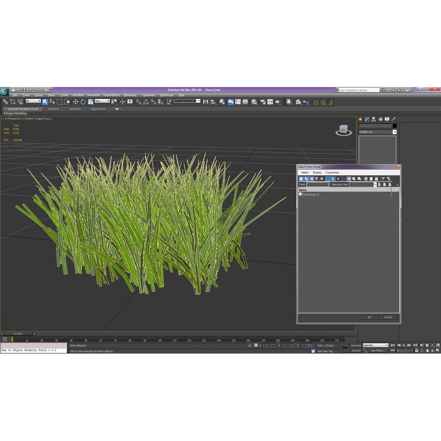 Grass 2 royalty-free 3d model - Preview no. 12
