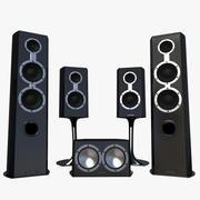 System głośników 3d model
