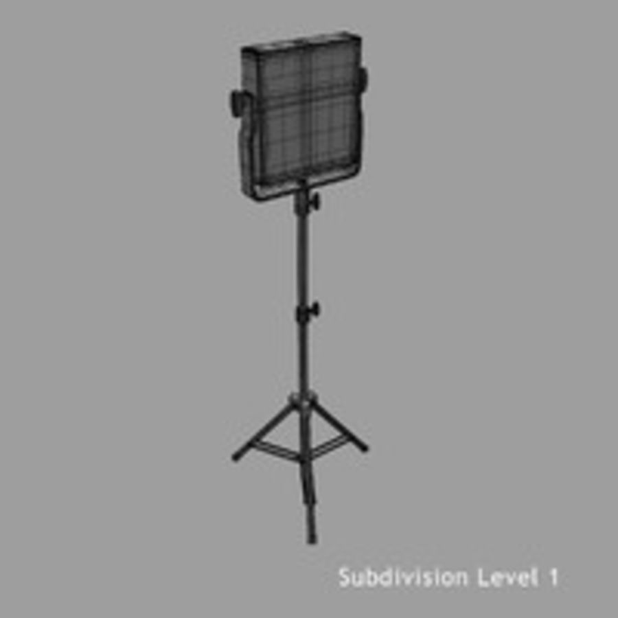 Pannello luminoso a LED royalty-free 3d model - Preview no. 13