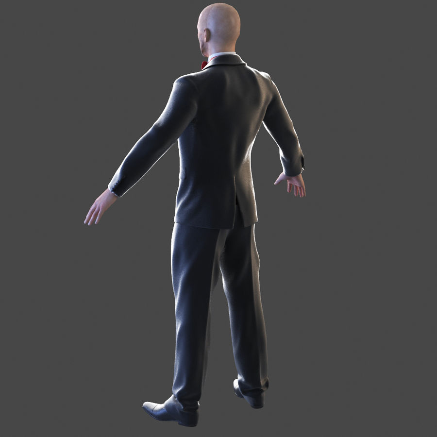 Człowiek smokingu royalty-free 3d model - Preview no. 2