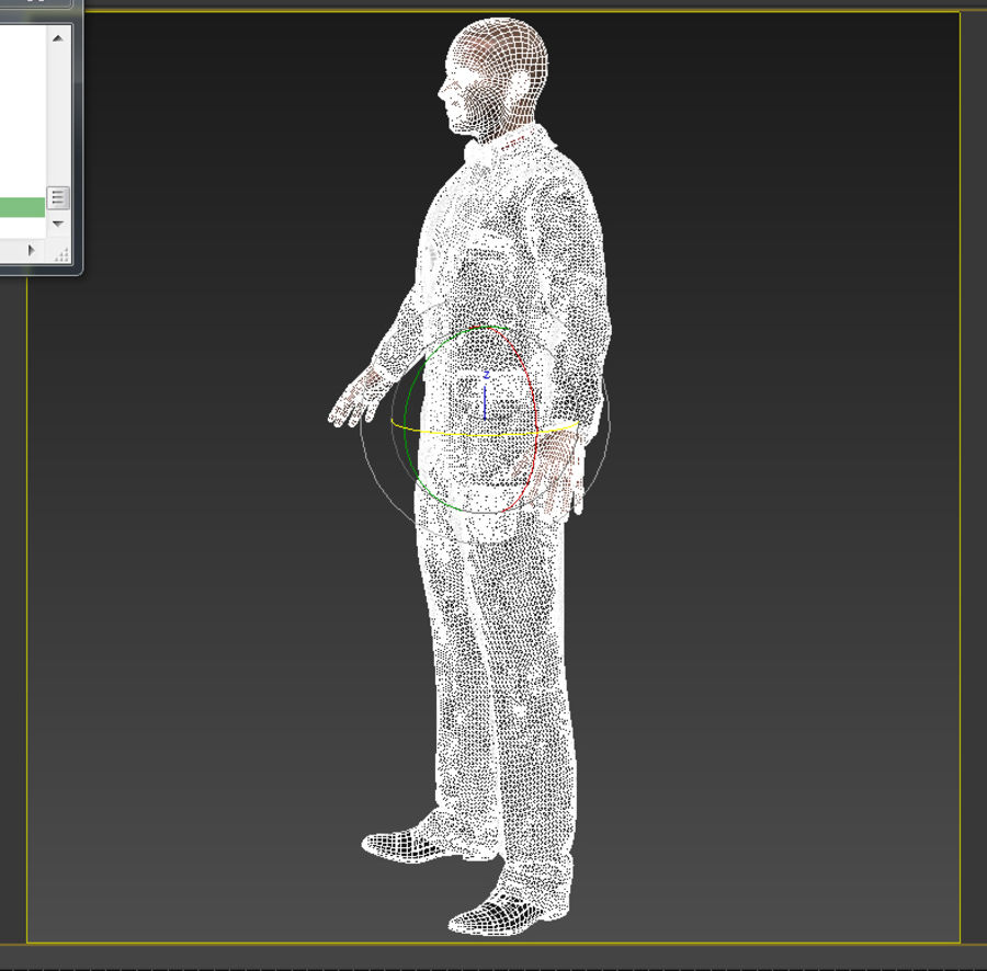 Tuxedo man royalty-free 3d model - Preview no. 5
