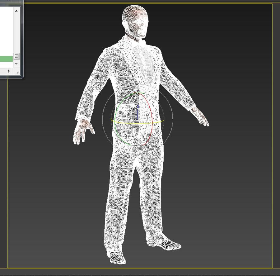 Tuxedo man royalty-free 3d model - Preview no. 6