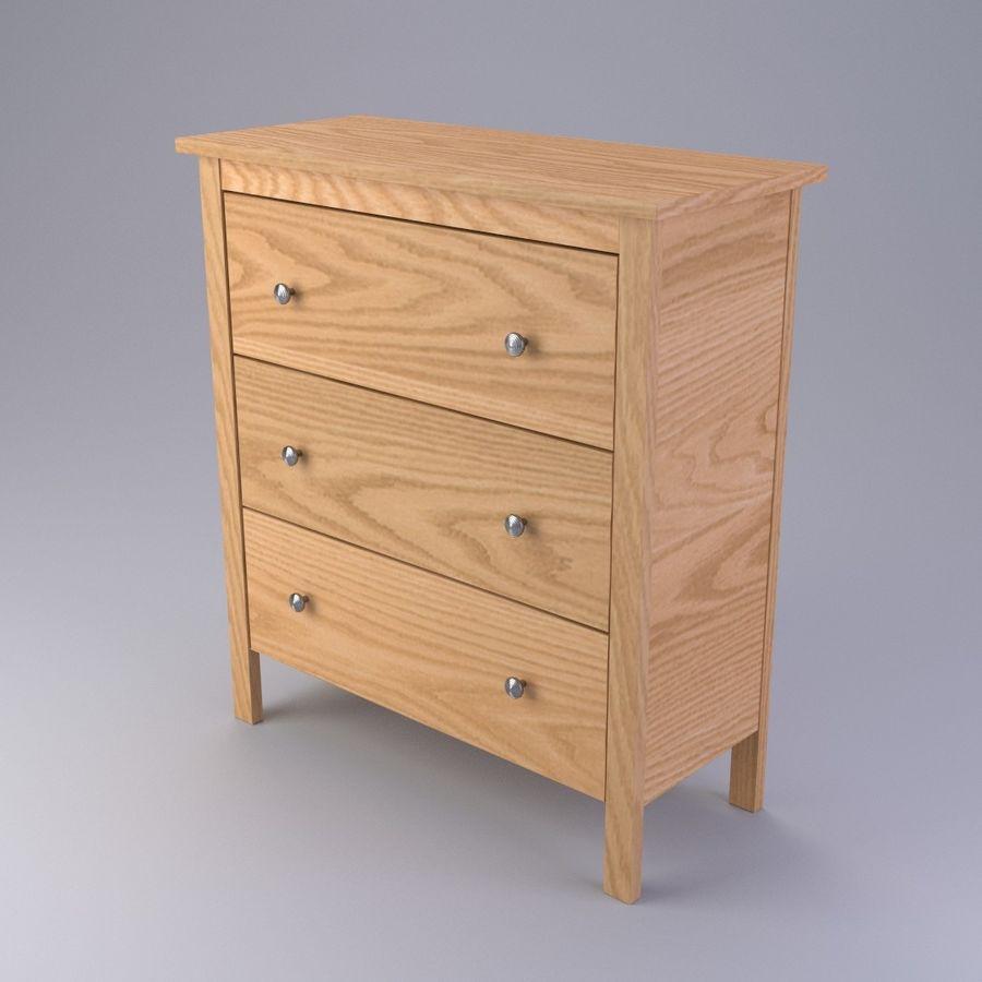 Burk av lådor Ikea royalty-free 3d model - Preview no. 3
