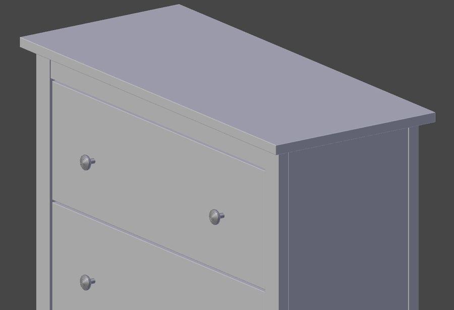 Burk av lådor Ikea royalty-free 3d model - Preview no. 7