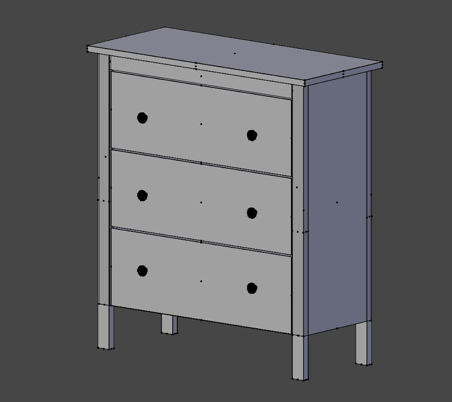 Burk av lådor Ikea royalty-free 3d model - Preview no. 8
