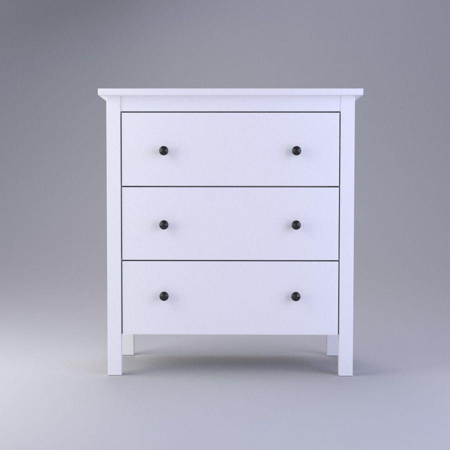 Burk av lådor Ikea royalty-free 3d model - Preview no. 2