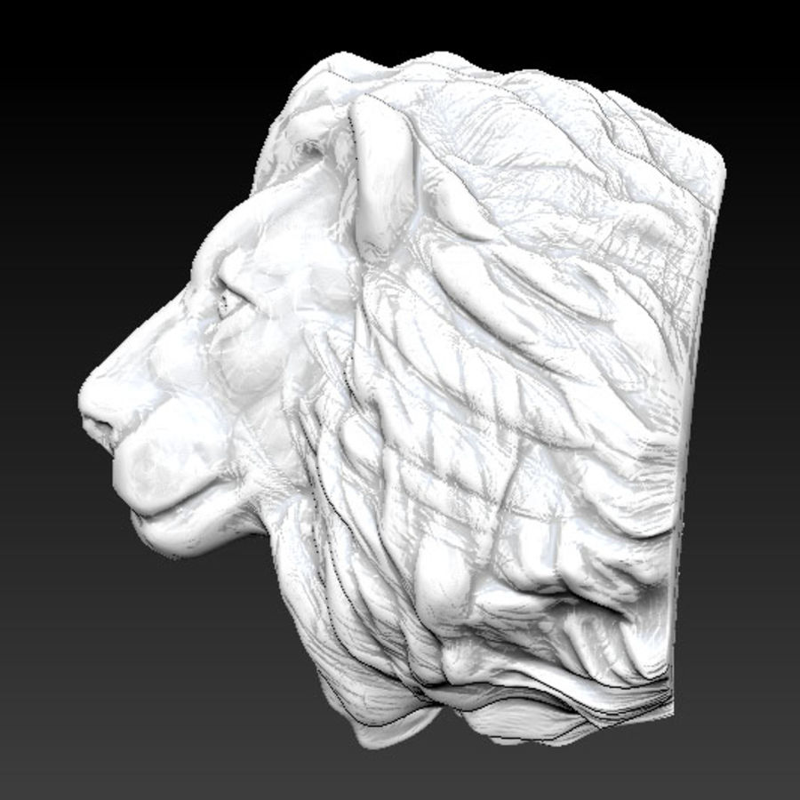 Lion head high royalty-free 3d model - Preview no. 3