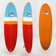 surfboard red orange 3d model
