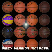 basketball collection 3d model