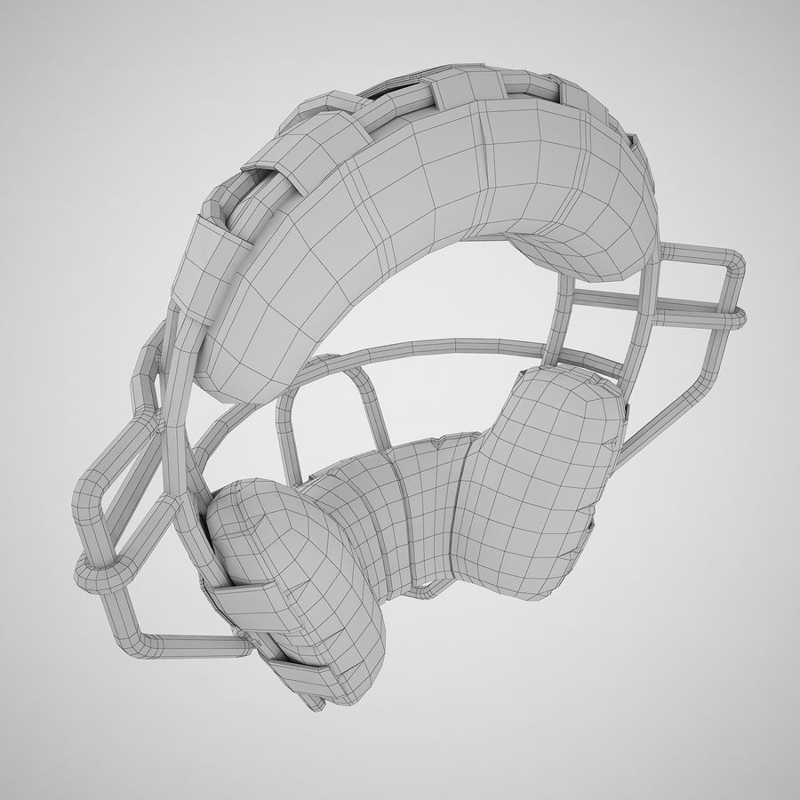 Catchers Face Mask 04 royalty-free 3d model - Preview no. 12