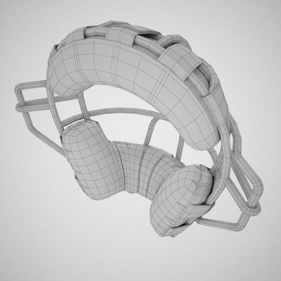 Catchers Face Mask 04 royalty-free 3d model - Preview no. 14
