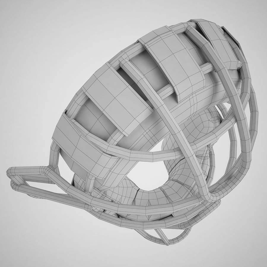 Catchers Face Mask 04 royalty-free 3d model - Preview no. 16