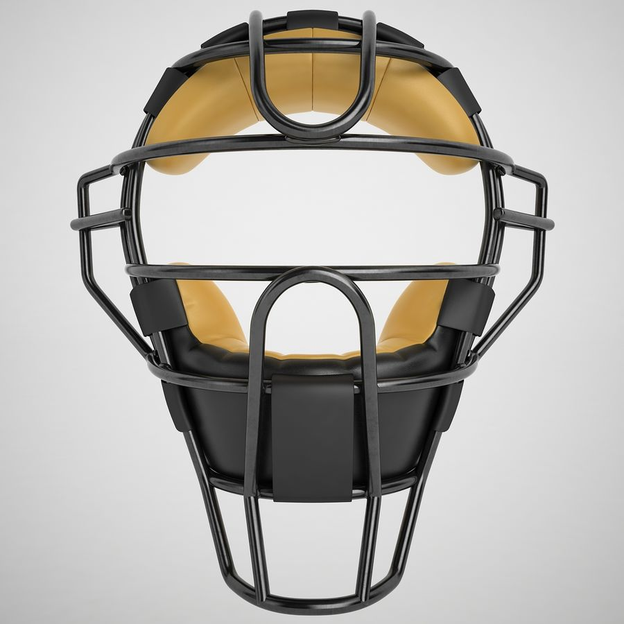 Catchers Face Mask 04 royalty-free 3d model - Preview no. 5