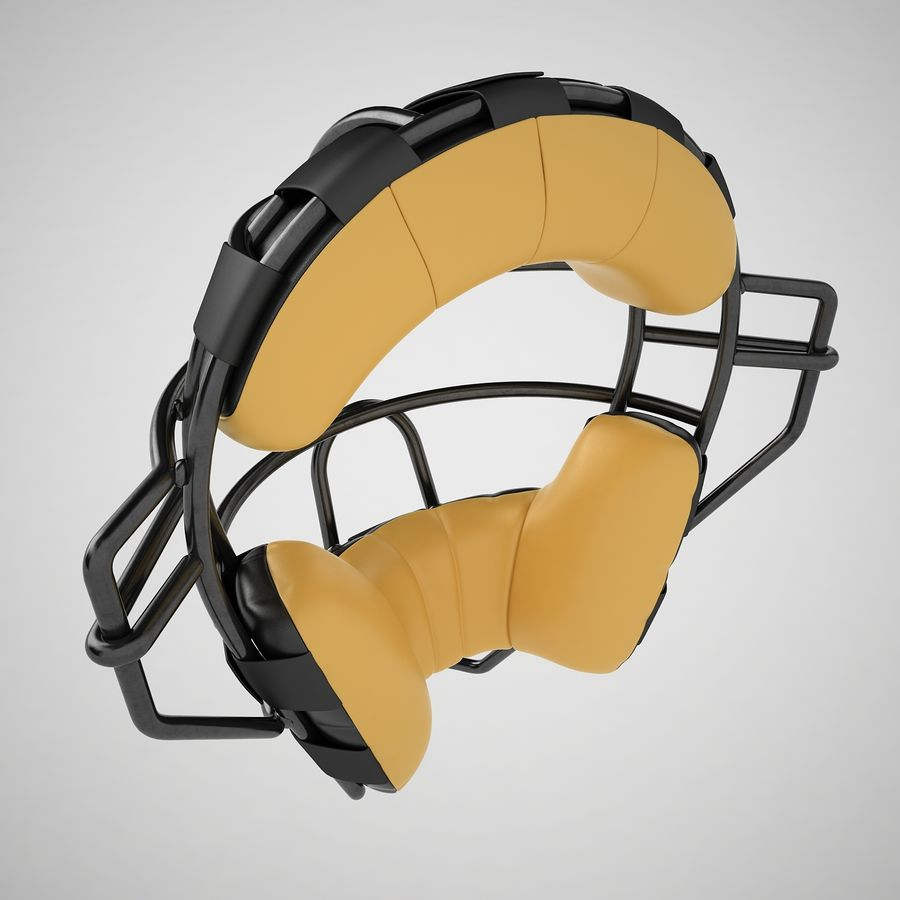 Catchers Face Mask 04 royalty-free 3d model - Preview no. 11
