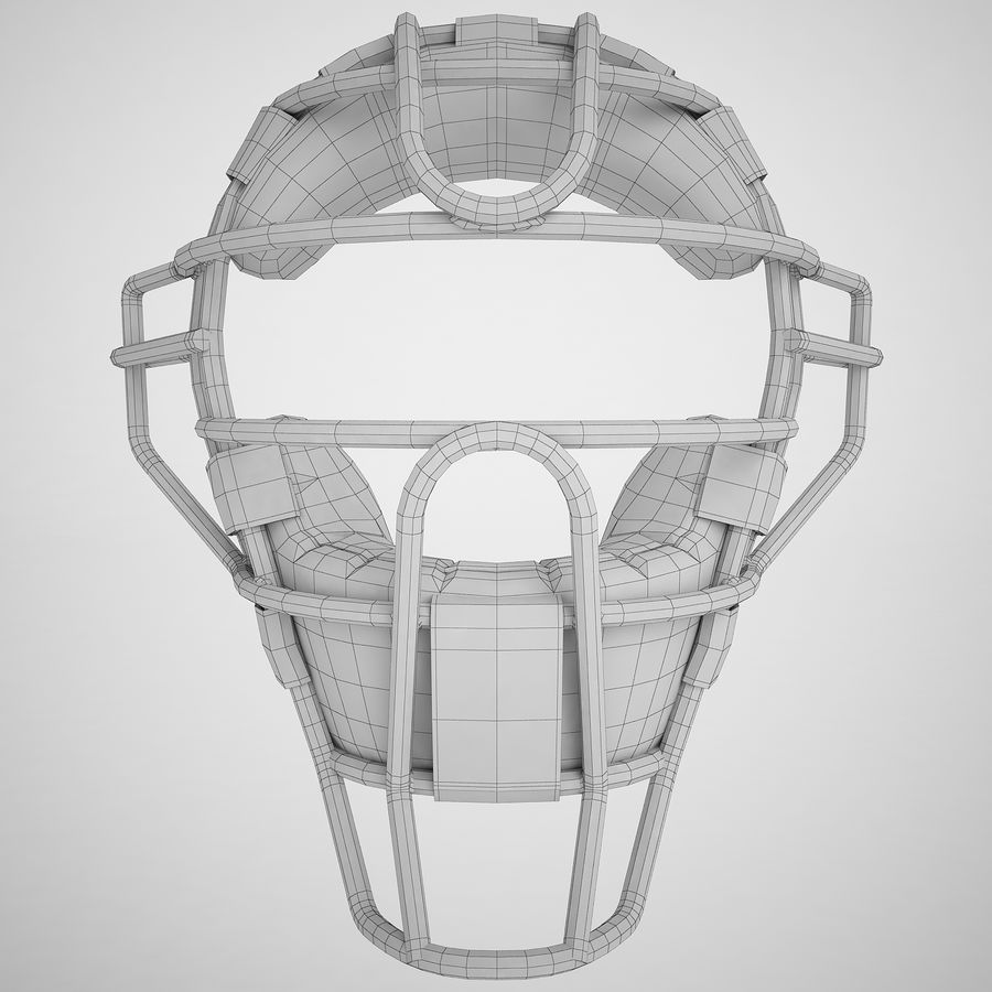 Catchers Face Mask 04 royalty-free 3d model - Preview no. 6